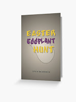Easter Eggplant Hunt - it's in the ratatouille