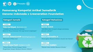 Berita Lingkungan Raih Juara II Kompetisi Artikel Jurnalistik