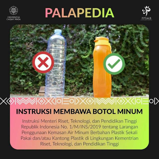 instruksi membawa botol minum