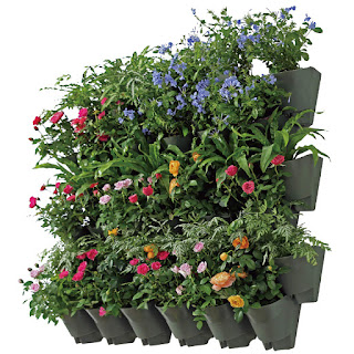 planter, vertical planter, self watering flower pot