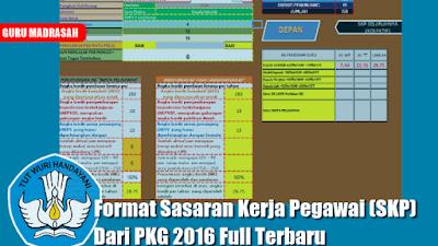 Format Sasaran Kerja Pegawai (SKP) dari PKG 2016