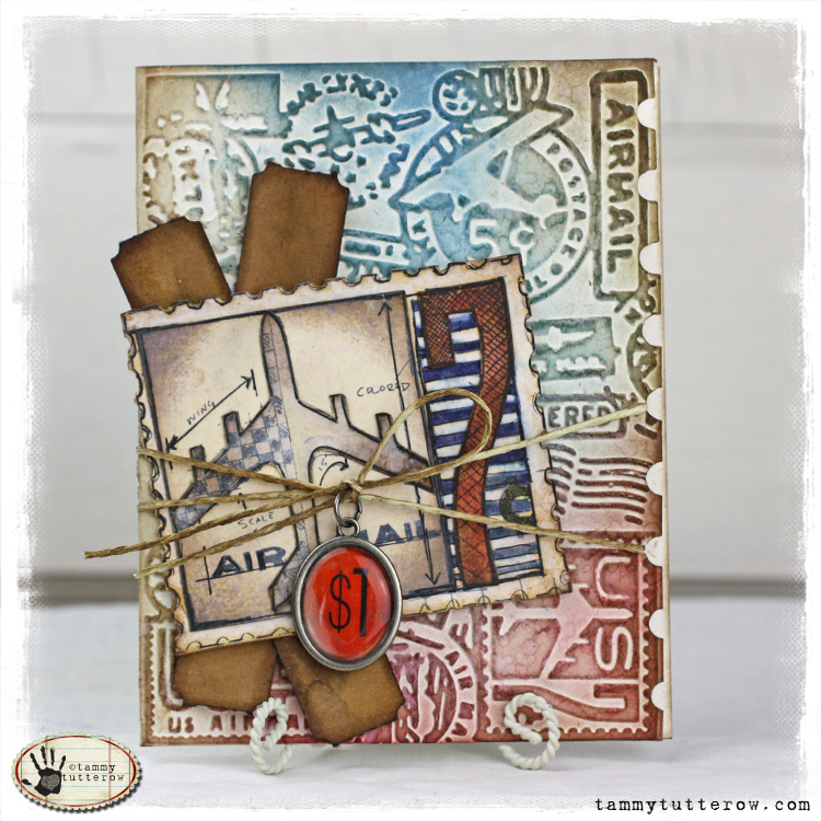 Sizzix Die Cutting Inspiration and Tips: Airmail Greeting ...