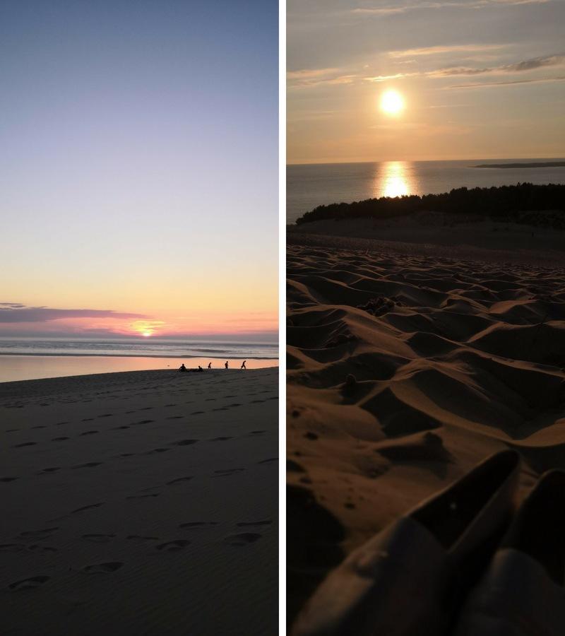 Couchers de soleil depuis la dune du Pilat