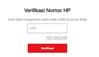 Verifikasi Nomor HP Untuk Mendapatkan Paket Internet Gratis