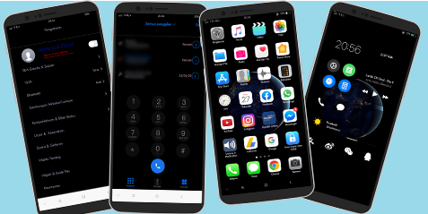Tema iOS 13 Dark Untuk Oppo dan Realme Full Tembus Akar