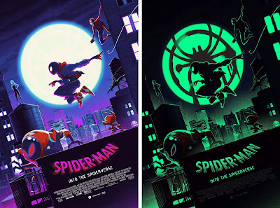 Spider-Man: Into the Spider-Verse Movie Poster GID Screen Print by Matt Ferguson x Florey x Bottleneck Gallery