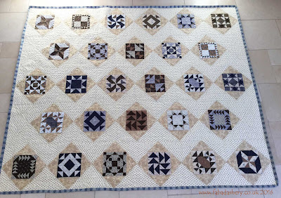 'Afternoon Tea' BOM by Judy Flanagan.  Made by Carol. Frances Meredith Quilting