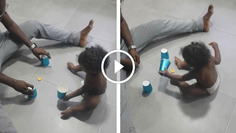 காண்போரைக் கவரும் 1 வயது சிறுவனின் செயல் : வீடியோ வை ரல்