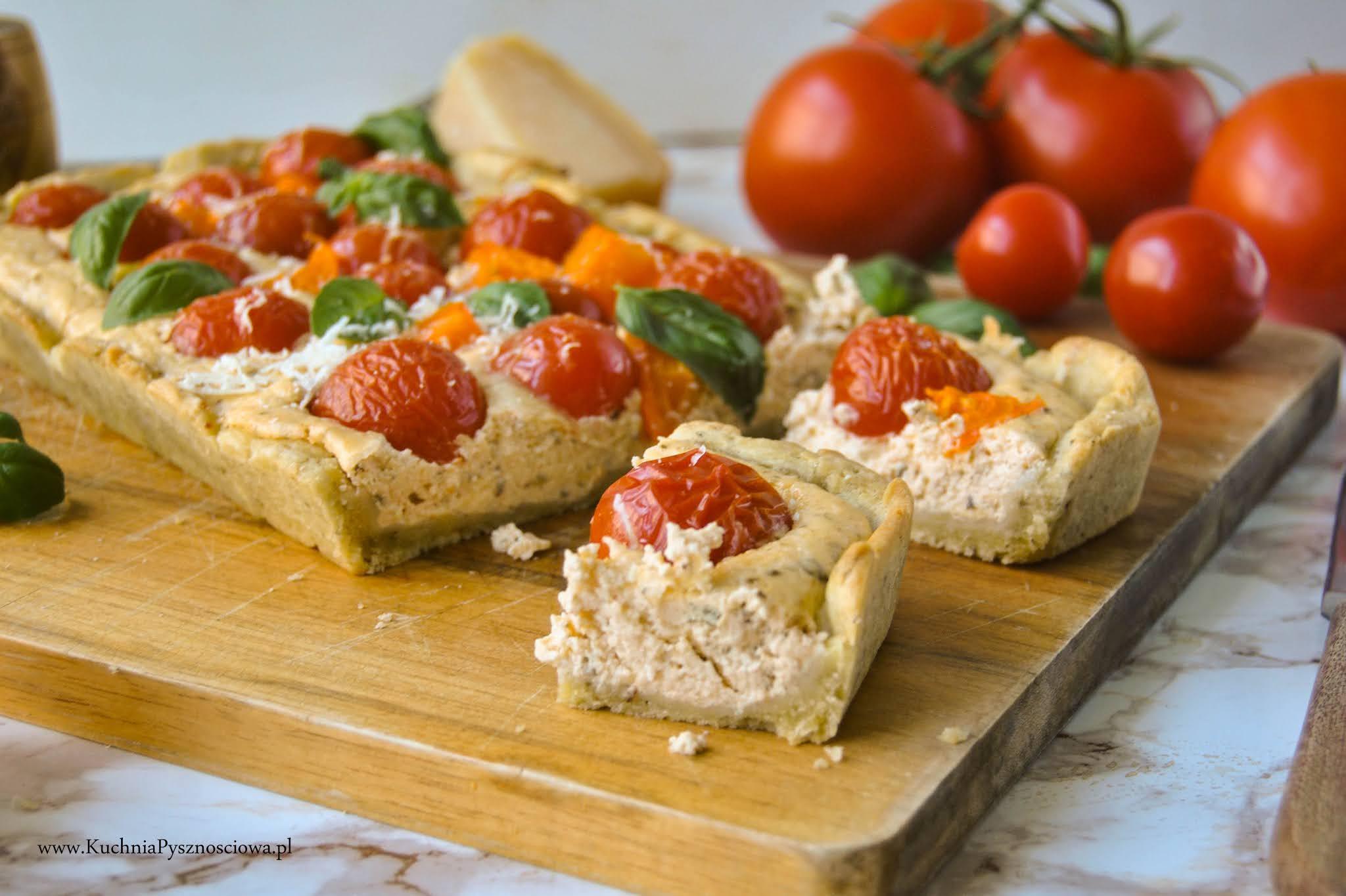 743. Tarta z pomidorami i ricottą