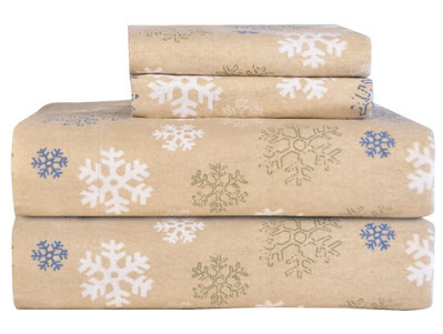 Hadiqa Snowflake Flannel Sheet Set