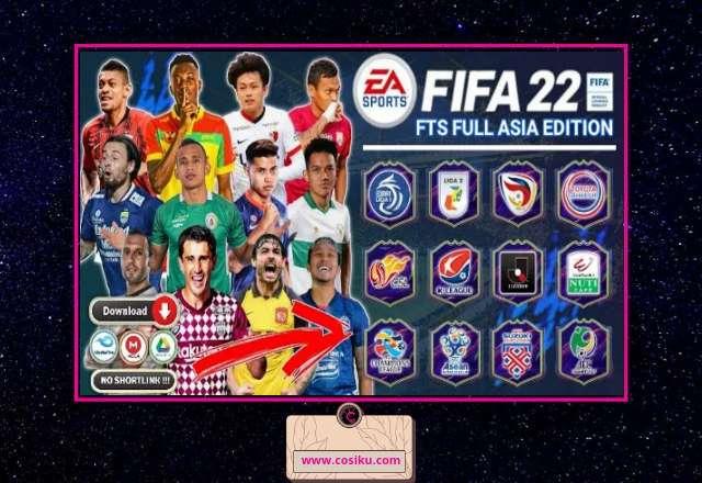 New!! FTS MOD FIFA 2022 Full Asia Bri Liga 1 Indonesia