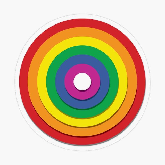 Gay Pride - Circle of Love with Shadows