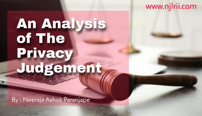 AN ANALYSIS OF THE PRIVACY JUDGEMENT
