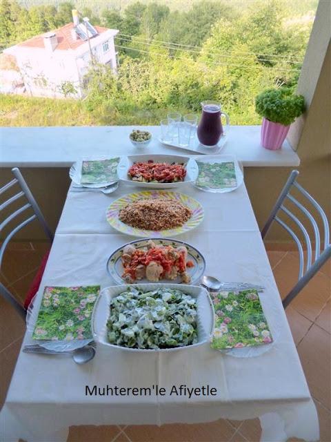 akşam yemeği masası için neler yapılır?