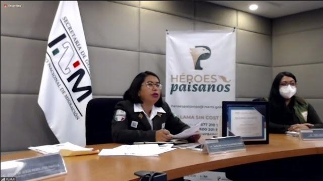 """Recibe """"Héroes Paisanos"""" del INM reconocimiento del INAI por 'Prácticas de Transparencia Proactiva' a favor de connacionales"""