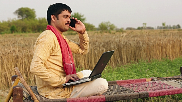essay on mobile phones and its help for the Indian Farmers