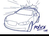 Kumpulan Gambar Kata Islami Mewarnai Mobil Polisi