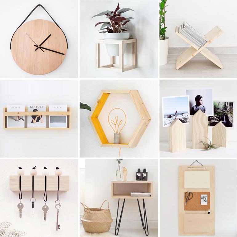 objetos madera DIY