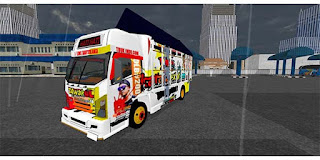 download mod bussid truck canter tawakal