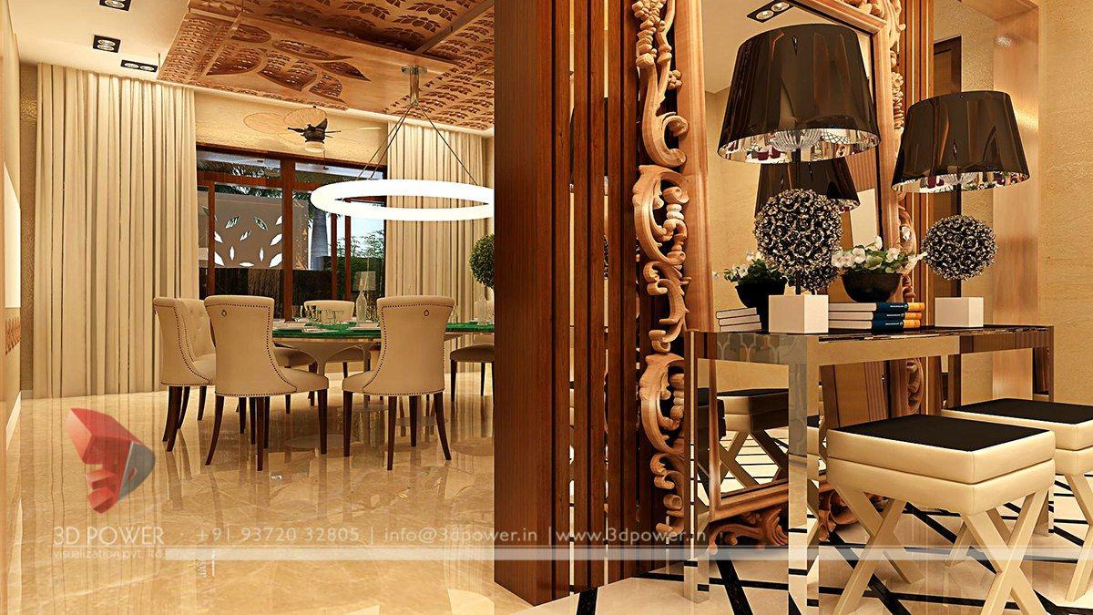 Contemporary Dining Room Interior Design Classic Dinning