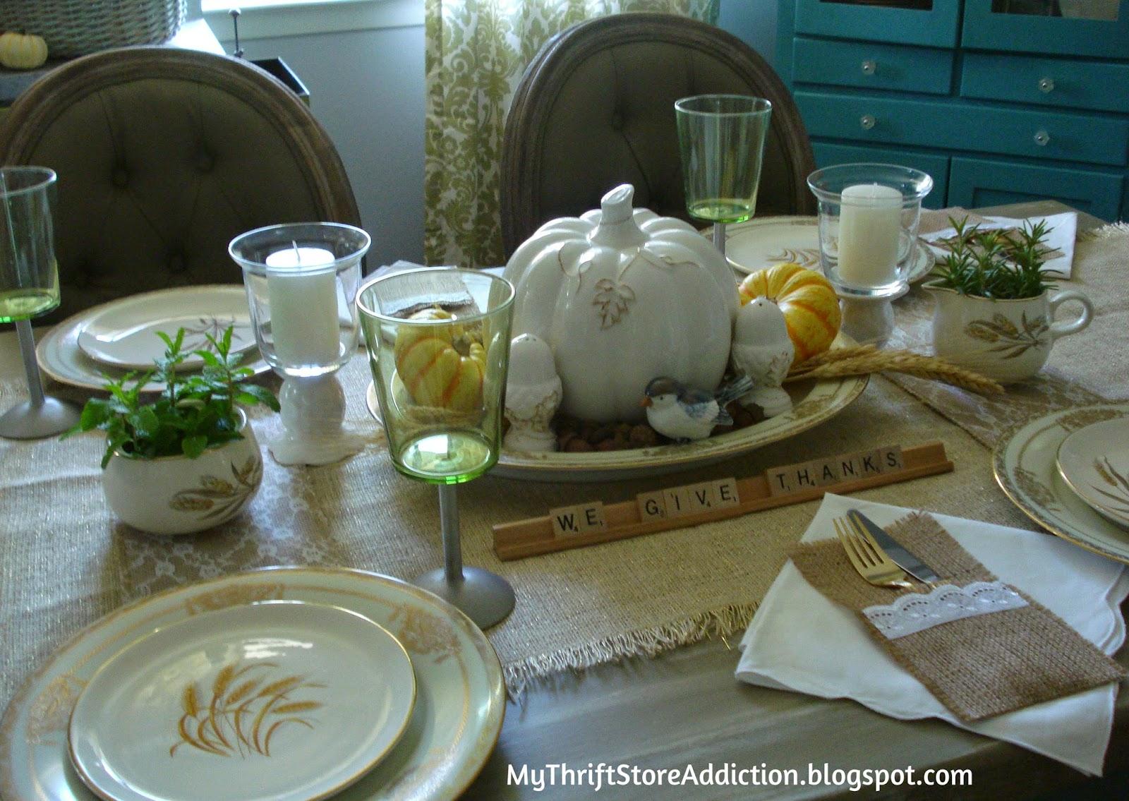 Vintage autumn tablescape