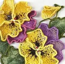 Flor en Encaje Irlandés a Crochet