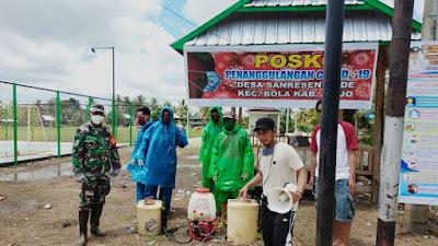 Buktikan Keseriusan, Pemerintah Desa Bersama Babinsa Sanreseng Ade kembali Semprot Disinfektan