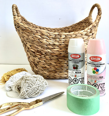 DIY Paint Dipped Basket with Spray Paint - items needed