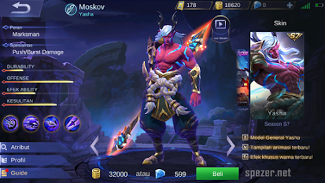 Moskov Hero MM Marksman Terbaik Mobile Legends