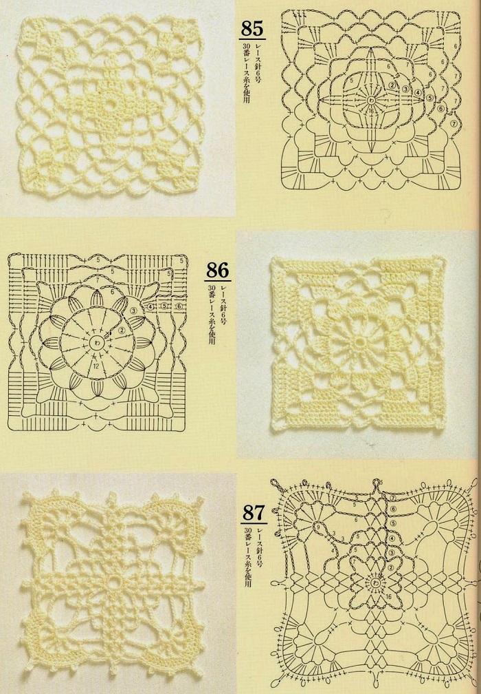Motivos de Crochê Com Gráficos 04