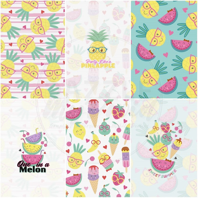 Party Like a Pineapple wallpaper set