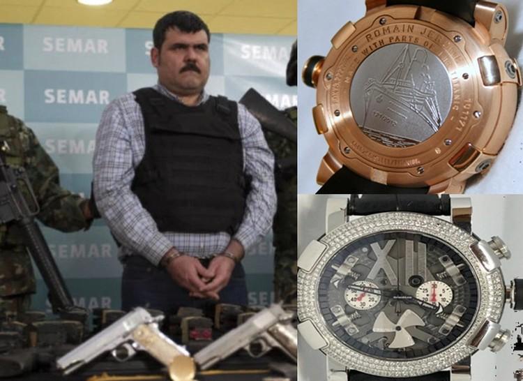 """El millonario reloj hecho con restos del Titanic y su relación con """"El Coss"""" el sanguinario ex líder del Cártel del Golfo"""