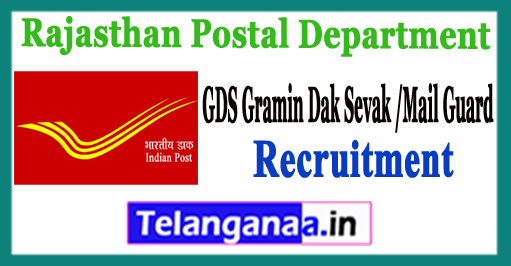 Rajasthan GDS Gramin Dak Sevak MTS Postman Mailguard Recruitment 2017-18