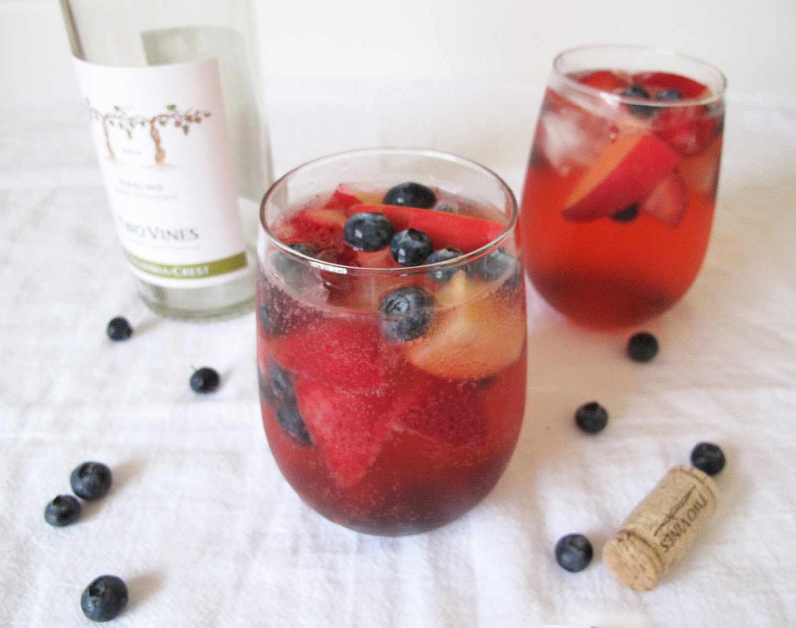 Montalvo Country: Red, White and Blue Sangria {White Wine Sangria}