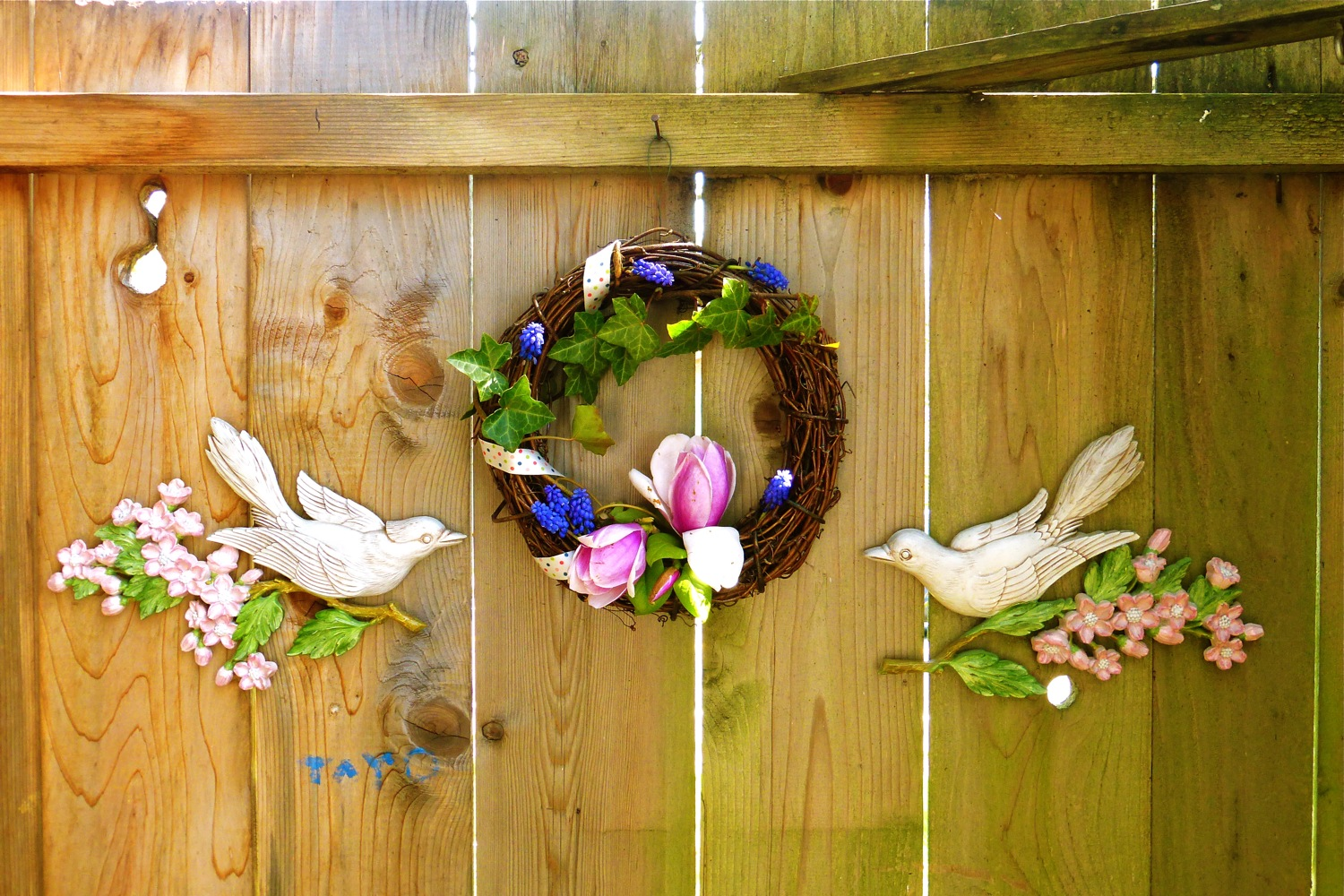 floral wreath, spring floral wreath, magnolia wreath, ivy wreath, muscari wreath, grape hyacinth wreath, DIY wreath, do it yourself spring wreath, foraged wreath, spring foraged wreath, DIY: Foraged Spring Wreath, make a spring floral wreath, ideas for spring wreaths
