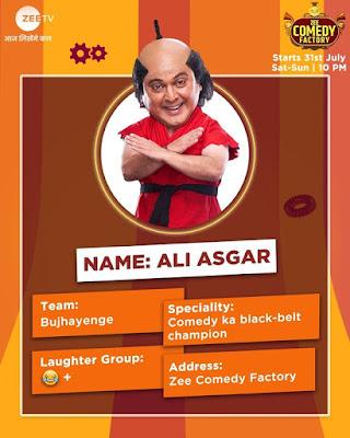 Zee Comedy Factory ali asgar