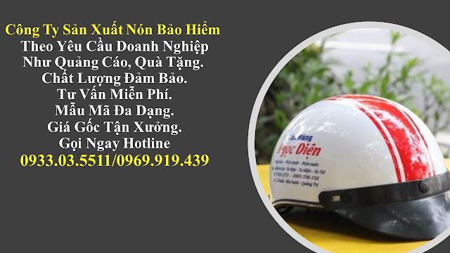 4. Sản xuất mũ bảo hiểm nửa đàu, nón bảo hiểm quà tặng, mũ bảo hiểm giá rẻ, nón bảo hiểm quảng cáo tại Bình Dương