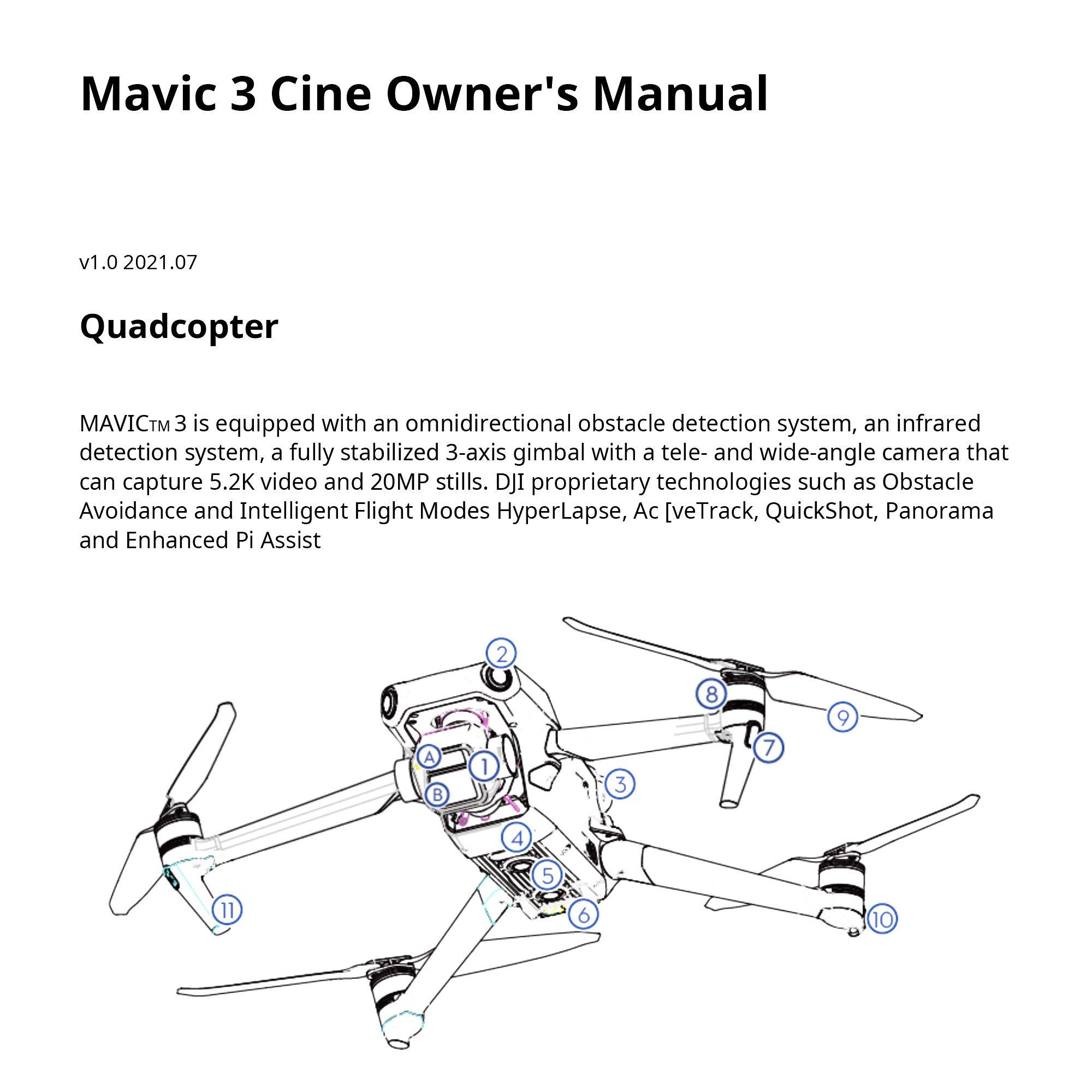 Первая страница инструкции DJI Mavic 3 Pro