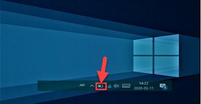 شرح حل مشكلة اختفاء ايقونة البطارية من شريط المهام على Laptop