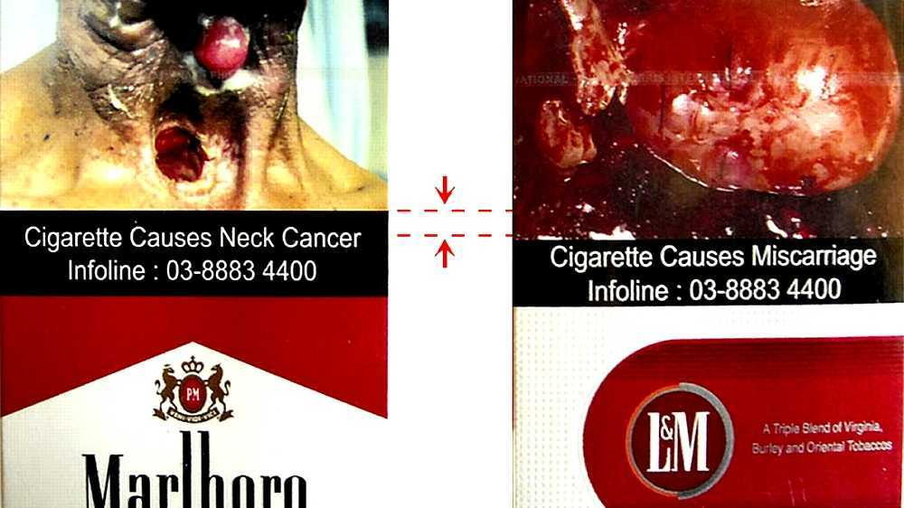 Tobacco packaging warning messages