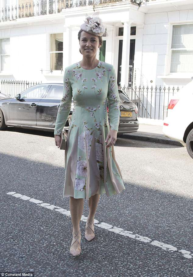 Pregnant Pippa Middleton arrives for Prince Harry and ... - photo#5