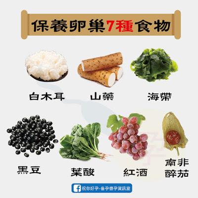 保護卵巢的7種食物:白木耳、山藥、海帶、黑豆、葉酸、紅酒、山藥醉茄