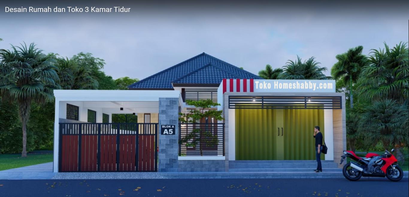 Desain Rumah Minimalis Dan Toko Dengan 3 Kamar Tidur Musholla Kecil Yang Nyaman Buat Keluarga Homeshabby Com Design Home Plans Home Decorating And Interior Design Desain rumah toko minimalis sederhana