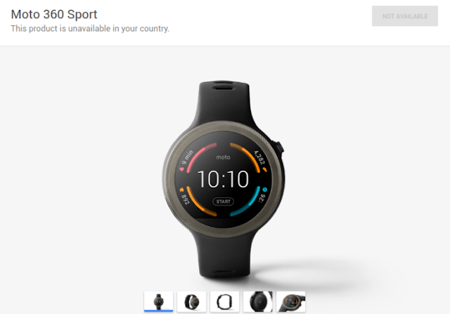 The Moto 360 Sport Gone From The Google Store