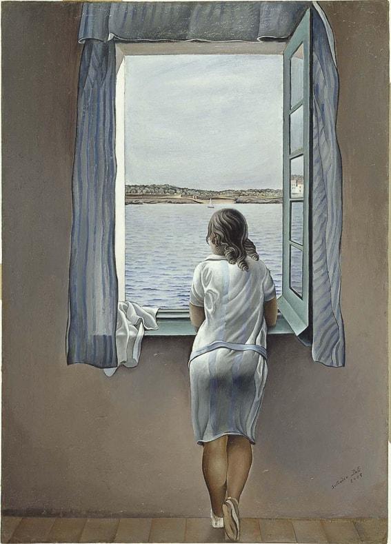 Figura en una ventana. Dali. Museo Reina Sofia