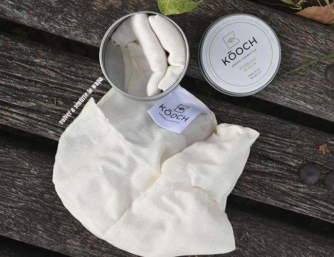 Muselinas de algodón orgánico de Kooch de Green Cosmetic