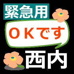 Emergency use.[nishiuchi]name Sticker