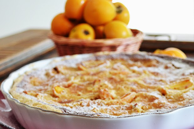 Loquat Tart with Almonds - Recipe - shewandersshefinds.com
