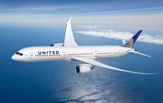avion de la flota de united