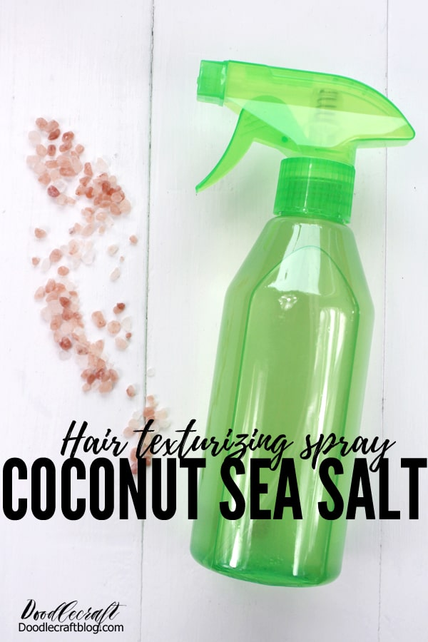 Coconut Sea Salt Hair Texturizing Spray DIY Recipe. Just a few simple ingredients for this texturizing spray with no harsh chemicals or scents.